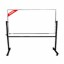 Papan Tulis (Whiteboard) Stand Double Face Sanko 90 x 180 cm
