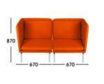 Sofa Kantor Donati  Matten 2 Seater