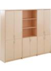 Lemari Arsip Donati Tinggi Triple Pintu Panel Bawah + Double Pintu Panel atas + Rack tengah type DOC-55-3R.L